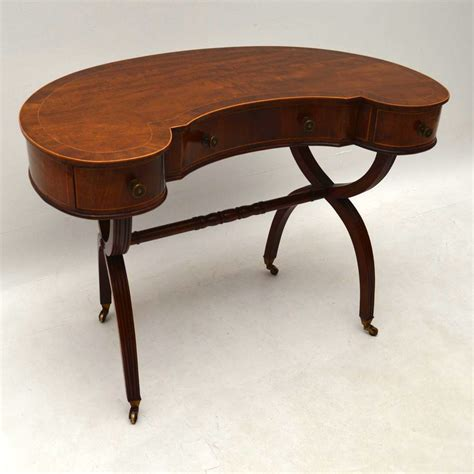 Antique Kidney Shaped Desk Antique Mahogany Kidney Shaped Desk Or Dressing Table Loveantiques