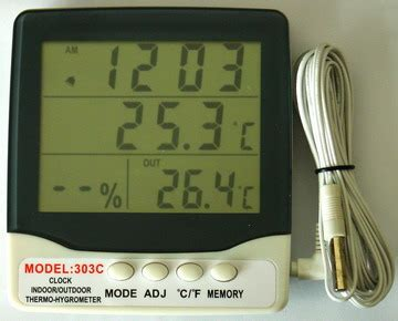 Digital Thermometer Model 303c Thermo Hygrometer 3 Parameter thermometer