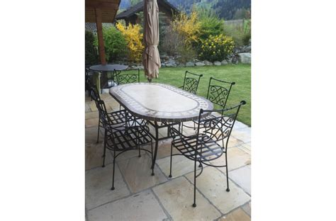 71 quot 94 quot oval outdoor patio dining table marble