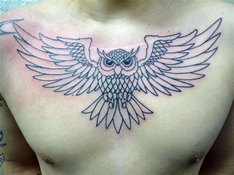 owl tattoo designs chest 33 best owl chest tattoo sketches images on pinterest