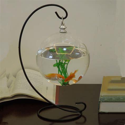 Desk Fish Bowl by Diameter 15cm Glass Aquarium And Stand Set Desk Stand