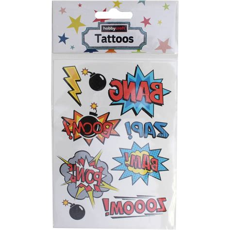 superhero temporary tattoos temporary tattoos 9 pack hobbycraft