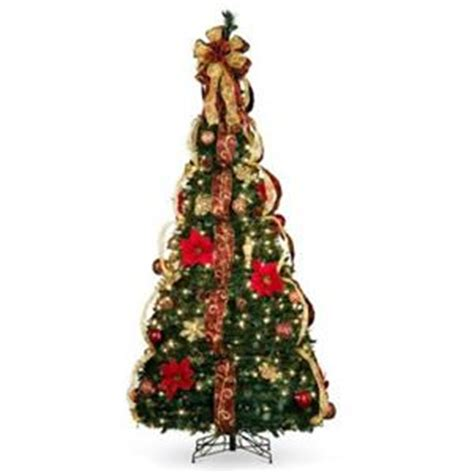 pre decorated collapsible christmas trees 6 1 2 lighted pre lit decorated artificial pull up tree decor ebay