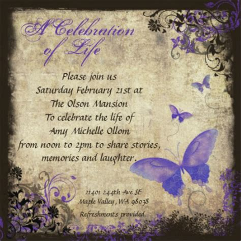 My Home Decorating Ideas by Amy S Celebration Of Life Invitation Amp Details Amy Ollom
