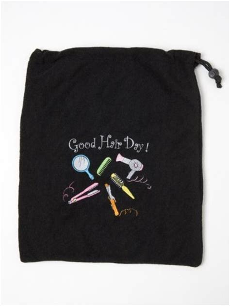 Hair Dryer And Straightener Bag miamica embroidered hair day black hair care travel