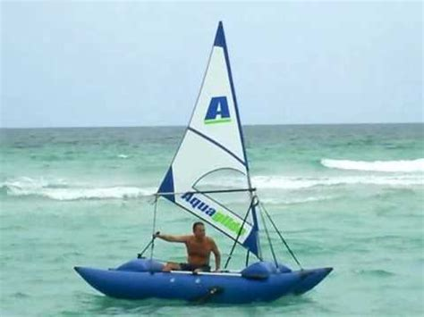 homemade sail for inflatable boat experimental inflatable sail catamaran by saturn youtube