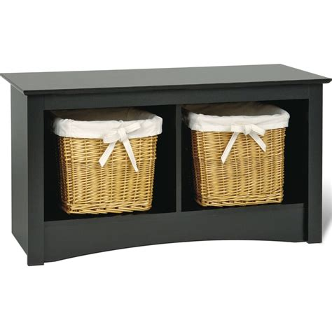 Black Storage Bench Sonoma Cubby Storage Bench Black In Storage Benches