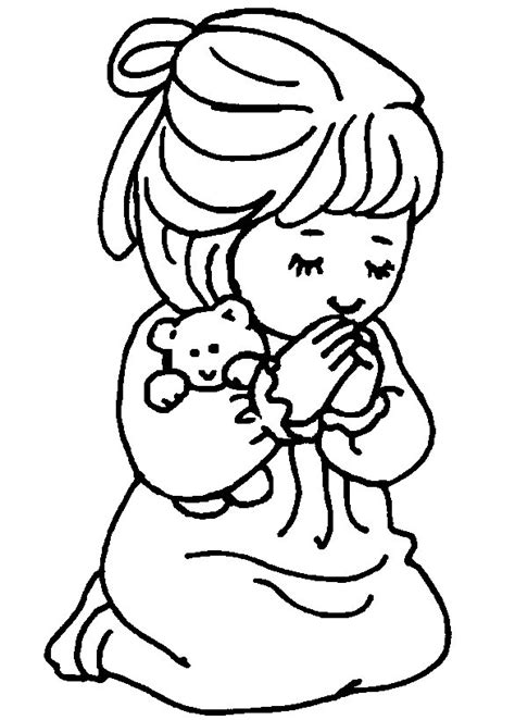 Childrens Praying Coloring Page by Children Praying Coloring Page Clipart Panda Free