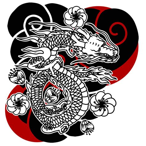 dragon japanese tattoo   vectors clipart