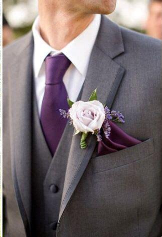 grooms attire  plum  charcoal grey groom wedding