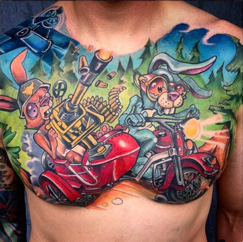 sick chest tattoos featured artist derek turcotte sick tattoos