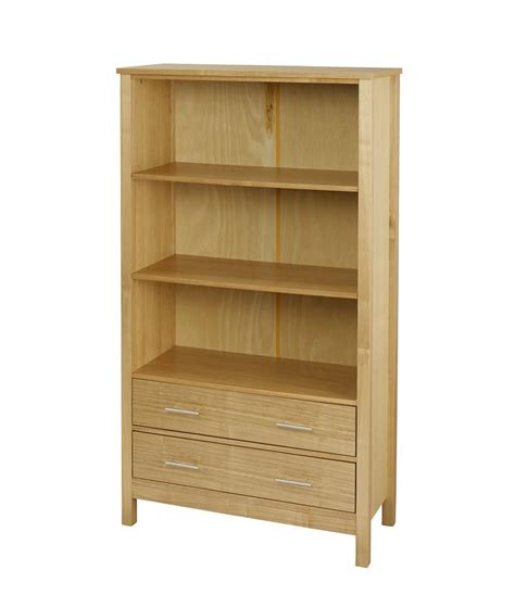 lpd oakridge bookcase with 2 drawers and 2 shelves