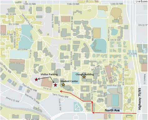 gatech map location and directions energy expo tech 2017