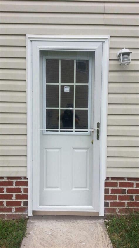 side door for garage pella 3900 rollscreen view door w satin nickel