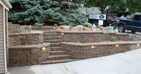Retaining Walls Portfolio Of Images Omaha Landscape Design Garden Retaining Walls