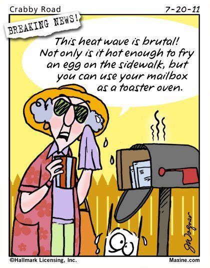 it s hot out funny images maxine cartoons maxine cartoon on the summer heat