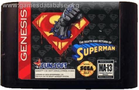 sega genesis superman and return of superman the sega genesis