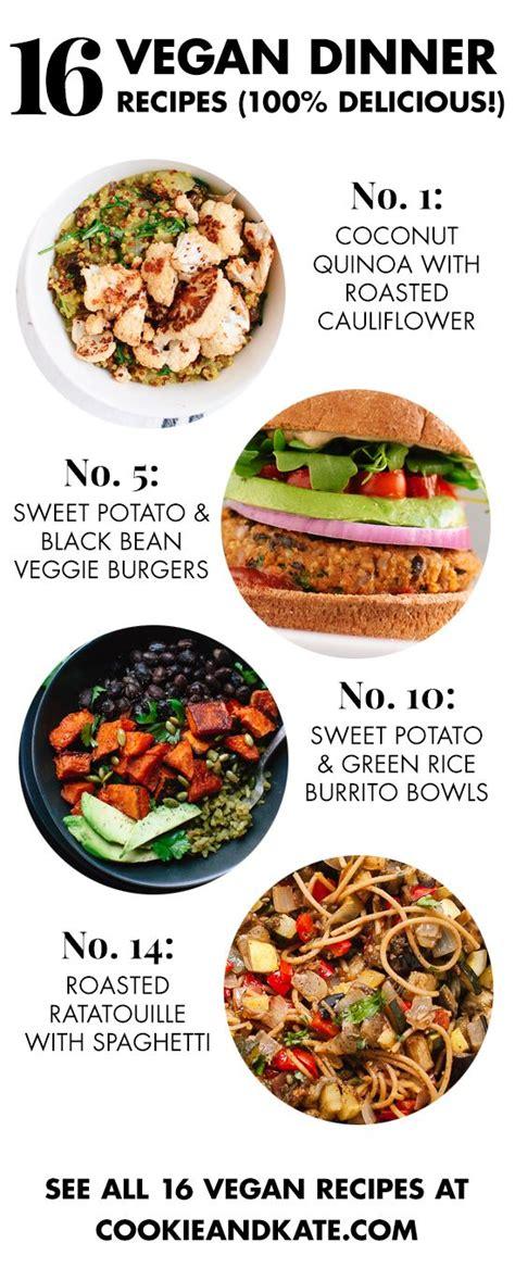 tasty vegetarian recipes for dinner 16 delicious vegan dinner recipes vegan dinner recipes