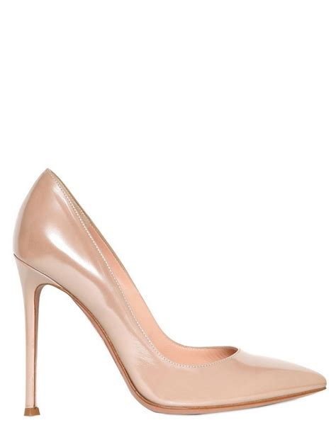Pumps Heels Glossy K0405 shoeniverse 110mm glossy calfskin pumps in blush pink by