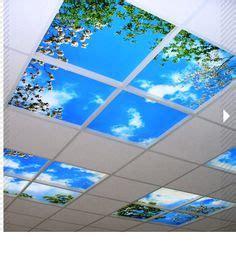plafond suspendu barrisol translucide lumineux et des