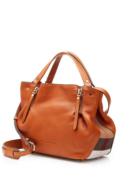 Burberry Gibbs Leather Shoulder Bag by Lyst Burberry Leather Shoulder Bag With Printed Fabric