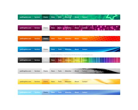 html side menu bar template 18 menu design website images website menu graphics web