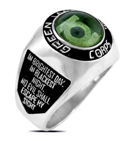 green lantern the silver 1401278027 3664 silver plated green lantern corps oath ring green