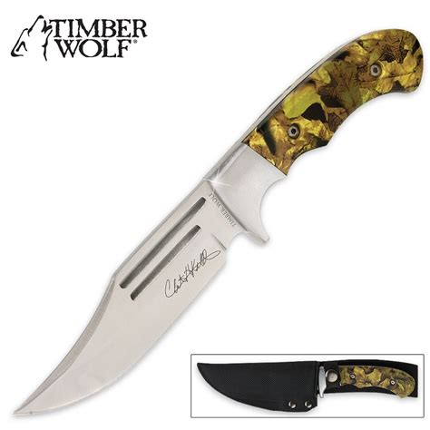 timber wolf knives timber wolf camo master 20th anniversary edition bowie knife