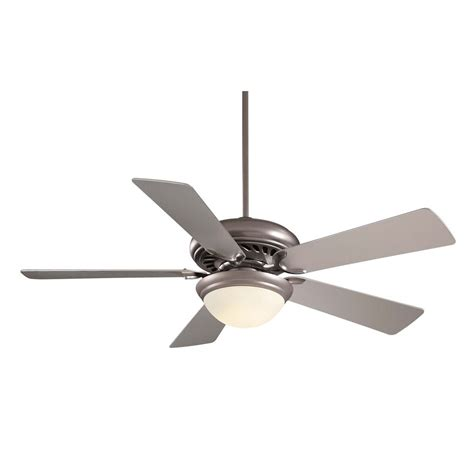Minka Ceiling Fans With Lights Minka Aire Fans Supra 52 Brushed Steel Ceiling Fan With Light F569 Bs Destination Lighting