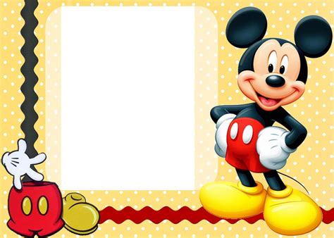 Mickey Mouse Card Template by Invitation Template Mickey Mouse Birthday Invitation