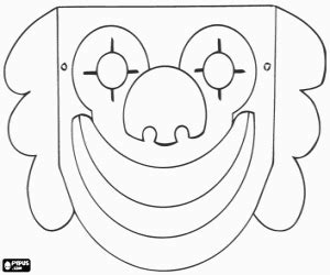 printable clown mask clown mask coloring page printable game