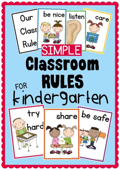 printable poster classroom rules classroom rules pinterest classroom kindergarten