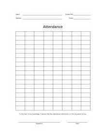 blank attendance sheet template 5 best images of free printable attendance roster forms