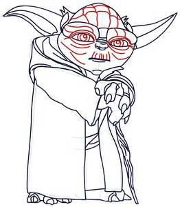 Yoda Drawing Outline by How To Draw Yoda From Wars With Step By Step Drawing Tutorial How To Draw Dat