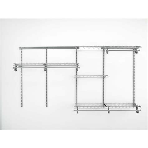 Closetmaid Wire Shelving Kits Shop Closetmaid 6 Ft Adjustable Mount Wire Shelving Kits