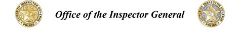 Office Inspector General Office Of The Inspector General