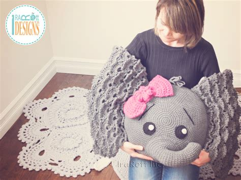 Elephant Rug Pillow Patterns Free by Elephant Crochet Patterns By Irarott Handmade Hats