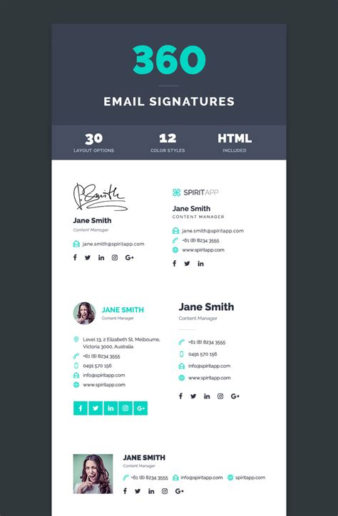 templates psd html 12 professional email signature templates with unique
