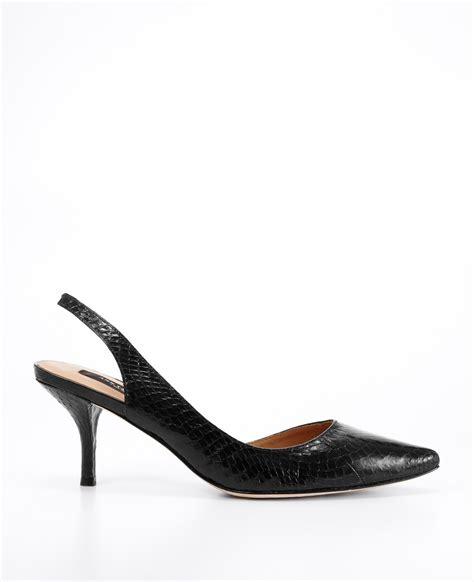 ally kitten heel leather slingbacks in
