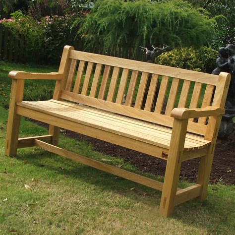 Handmade Wooden Garden Benches - 5ft hardwood garden bench handmade bton 2 the