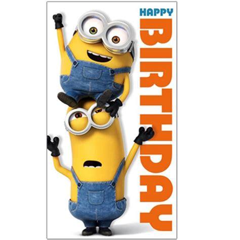 printable birthday cards minions happy birthday minions card minion shop