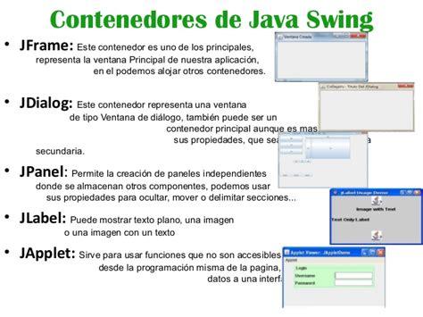 java swing jdialog contenedores de java swing