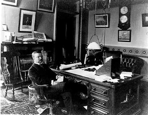Roosevelt S White House by Then Vice President Theodore Roosevelt Sitting At His Desk