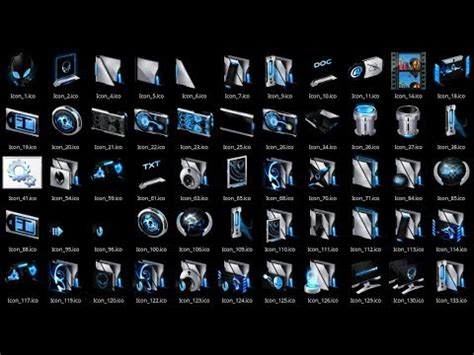 desktop icons themes free download windows 10 cusom icon pack alienware invader blue youtube