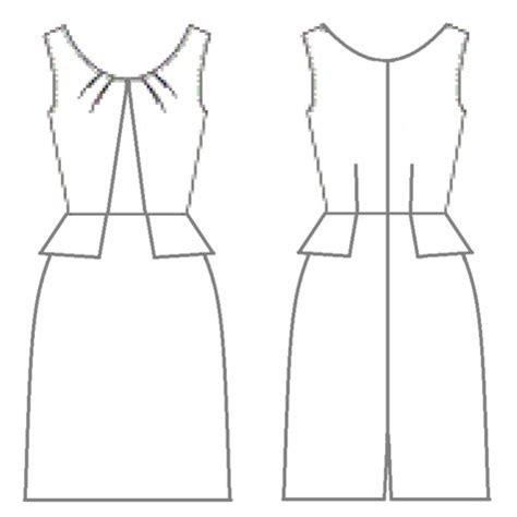 pattern drawing dress 375475 sewing patterns burdastyle com