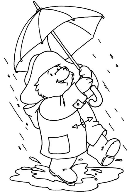 weather bear coloring pages colourful drawings on rainy days engleza la grădi