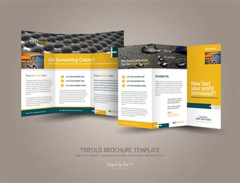 trifold templates business tri fold brochure designs dzinepress