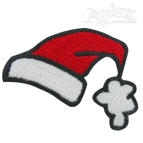 design own xmas hat santa hat embroidery design