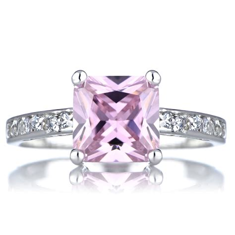 trista s promise ring pink princess cut cz
