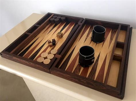 Handmade Backgammon Board - handmade backgammon set by don shoemaker at 1stdibs